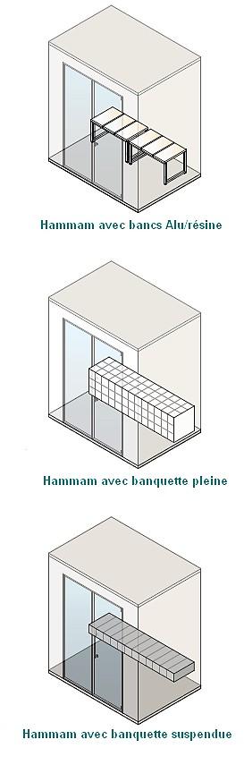 cabine pour hammam