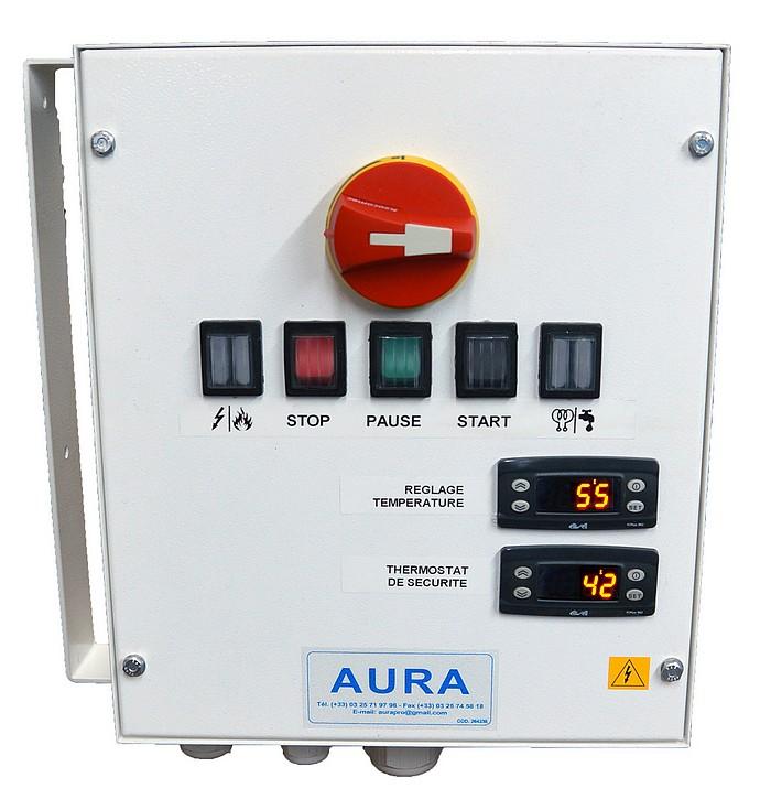 armoire de contrôle sauna pro avec thermostats numériques