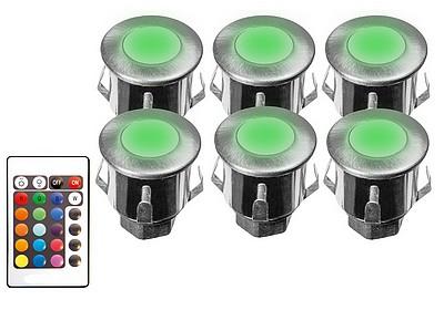 KIT CHROMO 6 mini-spots couleur - 35 mm