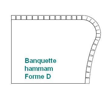 BANQUETTE à créer forme D