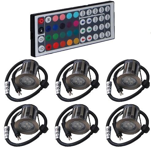 KIT CHROMO 2 à 12 mini-spots couleur - 55 mm
