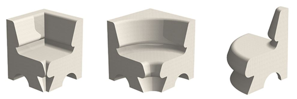 Angle forme banquette