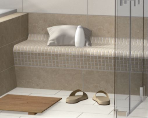 photo banquette hammam
