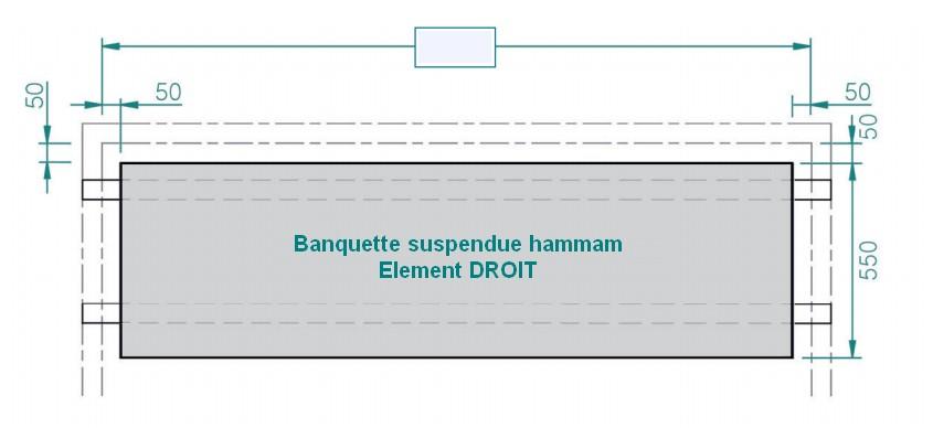 banquette suspendue hammam