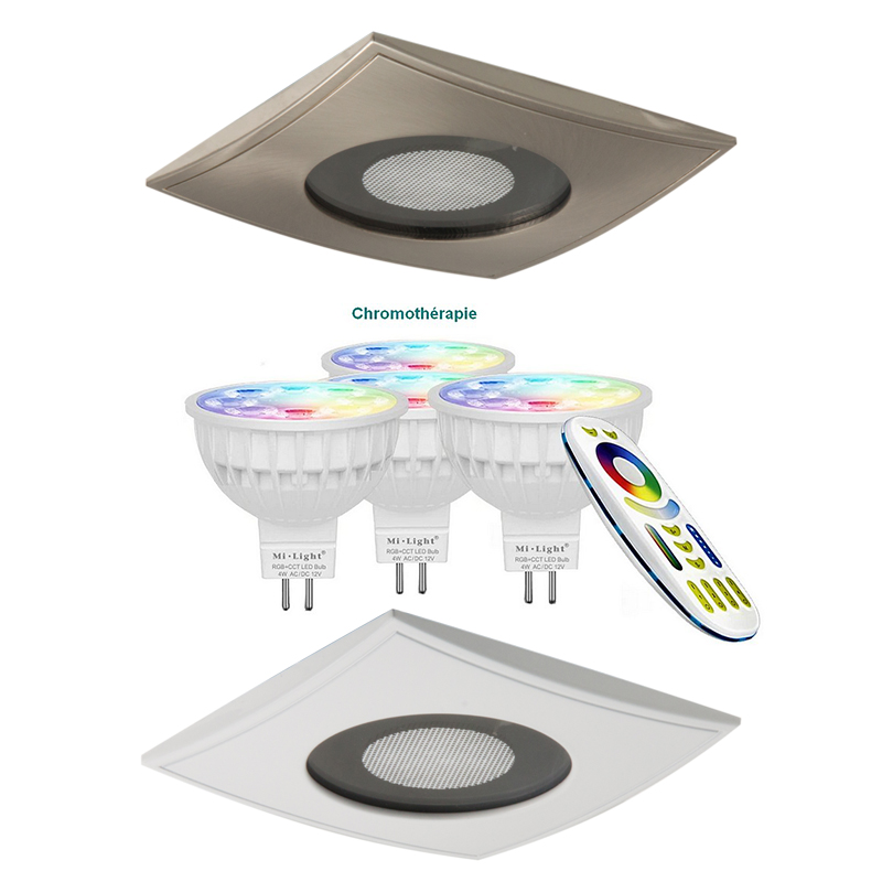 SPOT leds SRC-carré-10x10 cm- Blanc option couleur