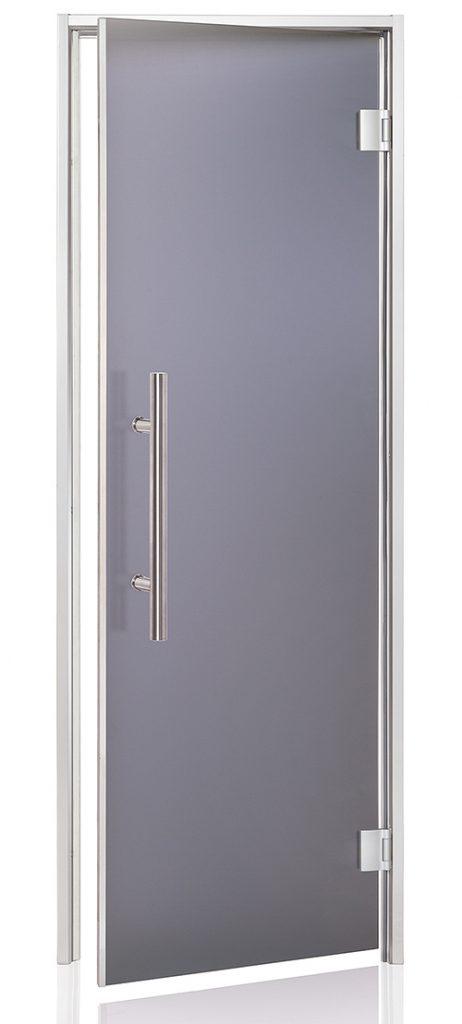 Porte premium fumée gris dépoli